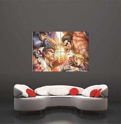 Xbox One PS3 PS4 PC Game Street Fighter X Tekken Giant Art Print Poster segunda mano  Embacar hacia Spain