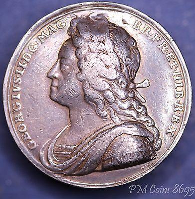 1727 MDCCXXVII George II Coronation medal silver 34mm 17.8g *[8695]