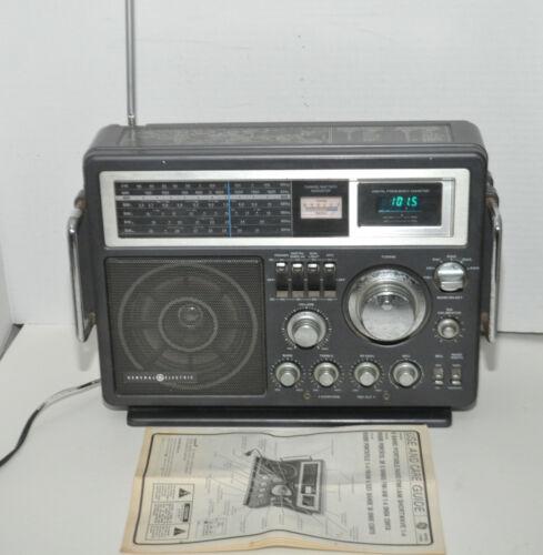 GE General Electric Model 7-2990A Portable 6 Band AM/FM Shortwave Radio & Manual