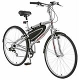 Schwinn Skyliner 700c Hybrid Bike, Silver/Red *Free front/rear lights & bar bag*