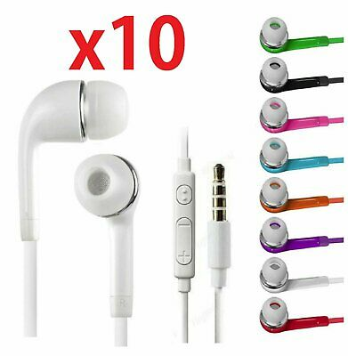 10x  In-Ear Stereo Earphone Headphone For Samsung Galaxy S3 S4 S5 S6 Note 2 3 4 Cell Phone Accessories