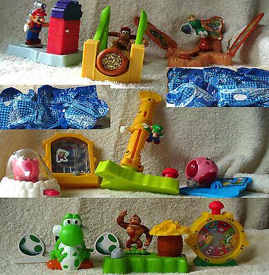 Burger King Nintendo SuperStars 10 toy complete set 2002 sealed Kong Mario Yoshi
