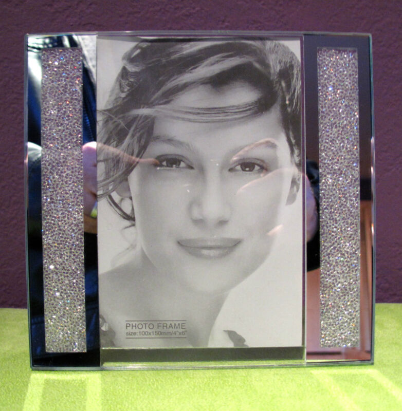 """Swarovski Crystal Filled Picture Frame for 4"""" x 6"""" Photo Size - Brand New!"""