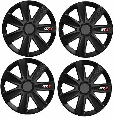 "Citroen C1 15/"" Stylish Black Tempest Wheel Cover Hub Caps x4"