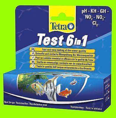 Wassertest Tetra Test 6in1 pH KH GH NO2 NO3 und Chlor Teststreifen