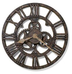 625-275 HOWARD MILLER 21.5  GALLERY WALL CLOCK  IN RUSTED ANTIQUE FINISH