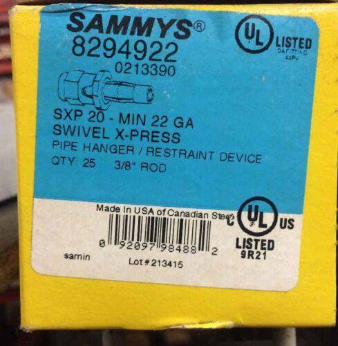 "Sammys SXP-20 3/8"" Swivel Threaded Rod Anchor for Metal Deck 8294922 Box of 25"