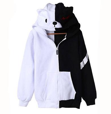 Dangan Ronpa Monobear Monokuma Black White Bear Sweatshirt Hoodie