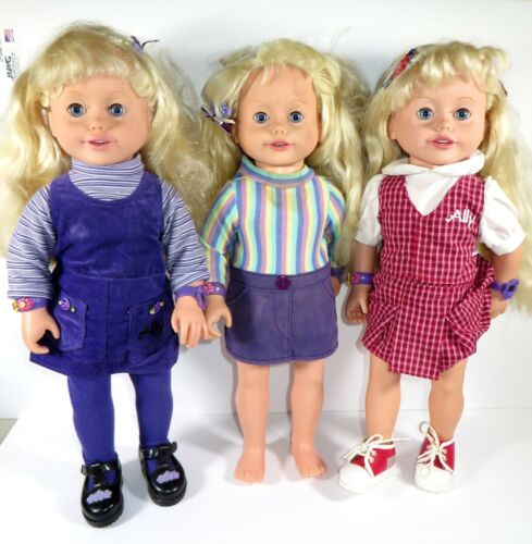 """** AMAZING ALLY PLAYMATES 18"""" DOLL LOT OF 3"""