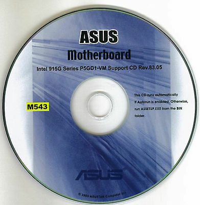 ASUS P5GD1-VM Motherboard Drivers Installation Disk M543