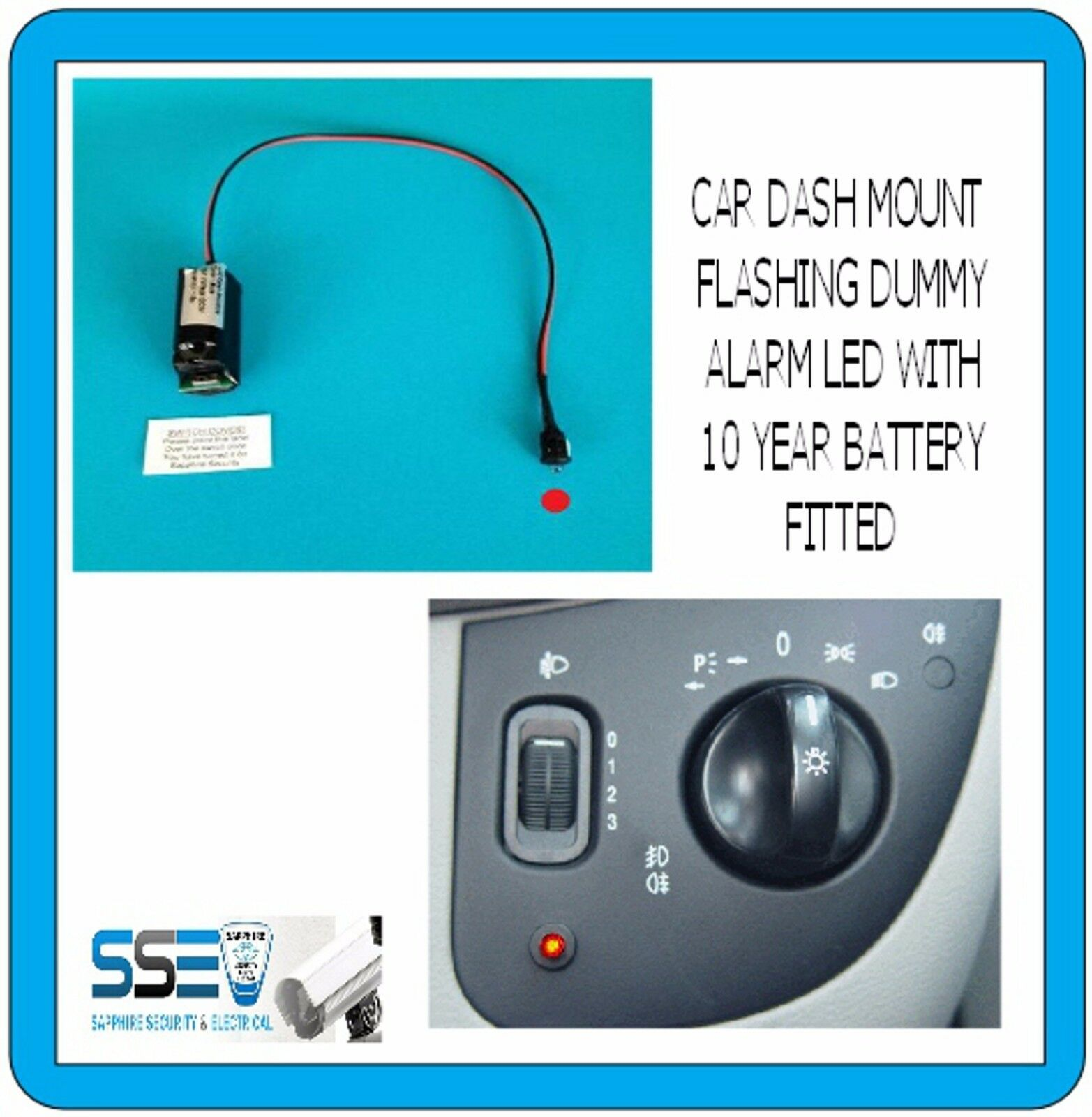 Car Alarm Dummy Flashing LED - No Wiring Required - Fit and Flash ...
