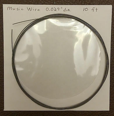 Piano Music Wire - 10ft Coil 0.024 0.026 0.029 0.031 0.033 Or 0.035 Dia