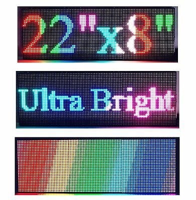 22x 8 P6 Semi Outdoor Full Color Led Sign Programmable Scrolling Message Board