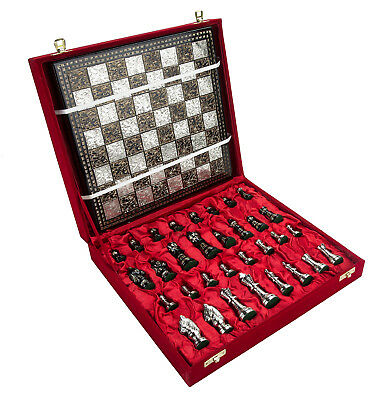 Collectible Full Brass Chess Game Board Set with 100% Brass Pieces/ Coins- 8