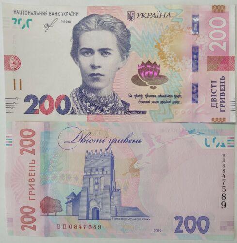 Ukraine 200 hryven. 2019 (2020). P-New. New design. UNC.
