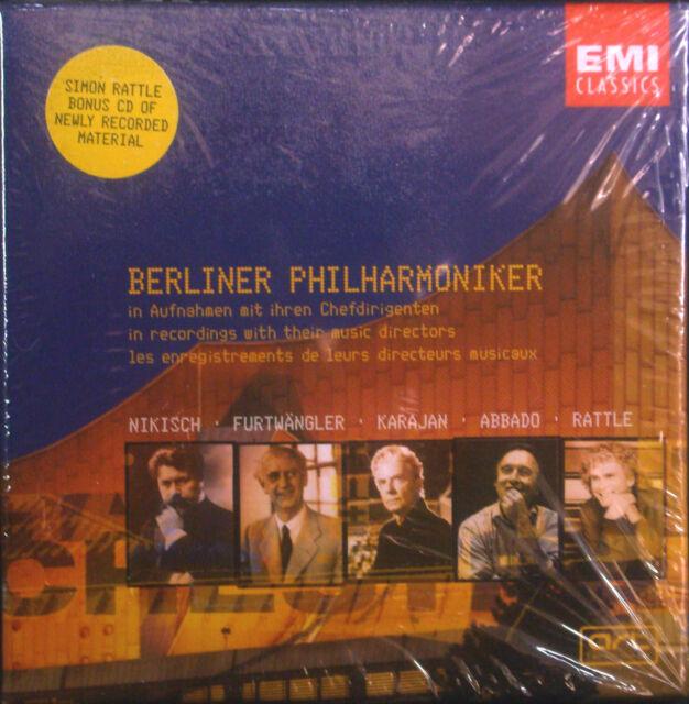 6erCD  BERLINER PHILHARMONIKER - aufnahmen mit ihren chefdirigenten, neu - ovp