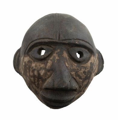 Masquette Mask Diminutive Ogoni Terracotta Fetish Case Art African 1152