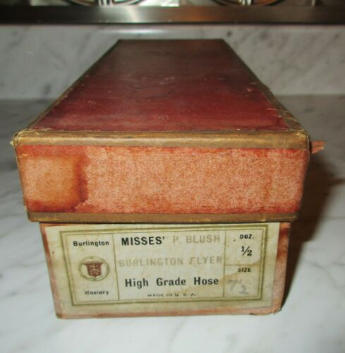 Vintage Burlington Hosiery Empty Misses Socks Advertising Box