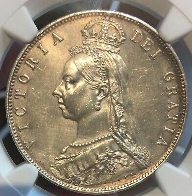 1889 British Silver Half Crown UNC Details