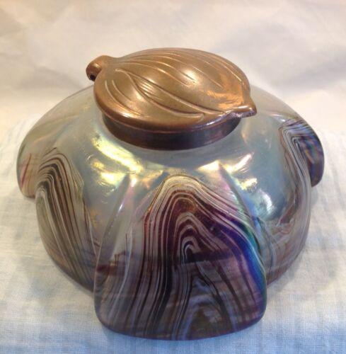 Antique Art Glass Inkwell Loetz?