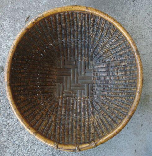Vintage Ifugau tribal  basket, N.Philippines, bamboo and rattan , eatrly 20c