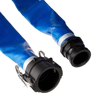 Apache 98138049 2 X 50 Blue Pvc Lay-flat Discharge Hose With Poly Cam Lock ...