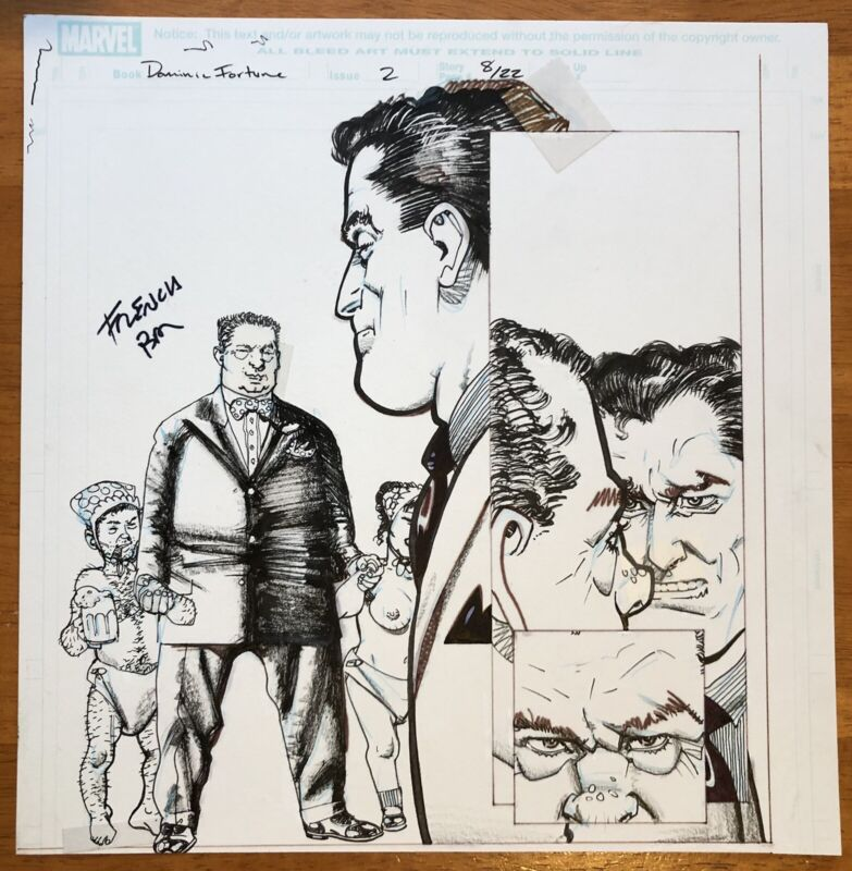 Dominic Fortune 2 Marvel - Three Pages Original Art Howard Chaykin FREE SHIPPING