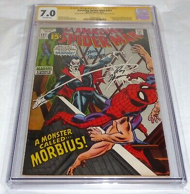 Amazing Spider-Man #101 CGC SS Signature Signed 1st Appearance of Morbius Vamp