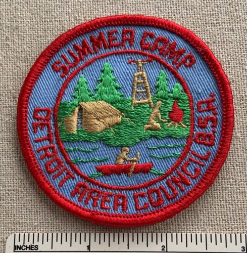 Vintage DETROIT AREA COUNCIL Boy Scout Summer Camp PATCH DAC BSA MI 1960s BSA