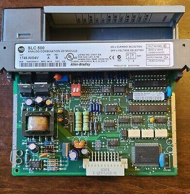 Allen Bradley Slc 500 Analog Combination Io Module  1746-nio4v Ser A
