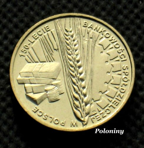 COMMEMORATIVE COIN OF POLAND - 150th ANNIVERSARY OF COOPERATIVE BANKING (MINT)
