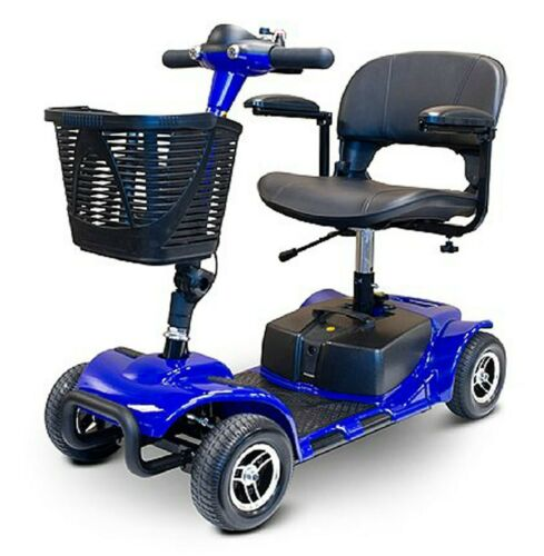Blue Ewheels Ew-m34 4 Wheel Mobility Scooter, Easy To Transport, Swivel Seat