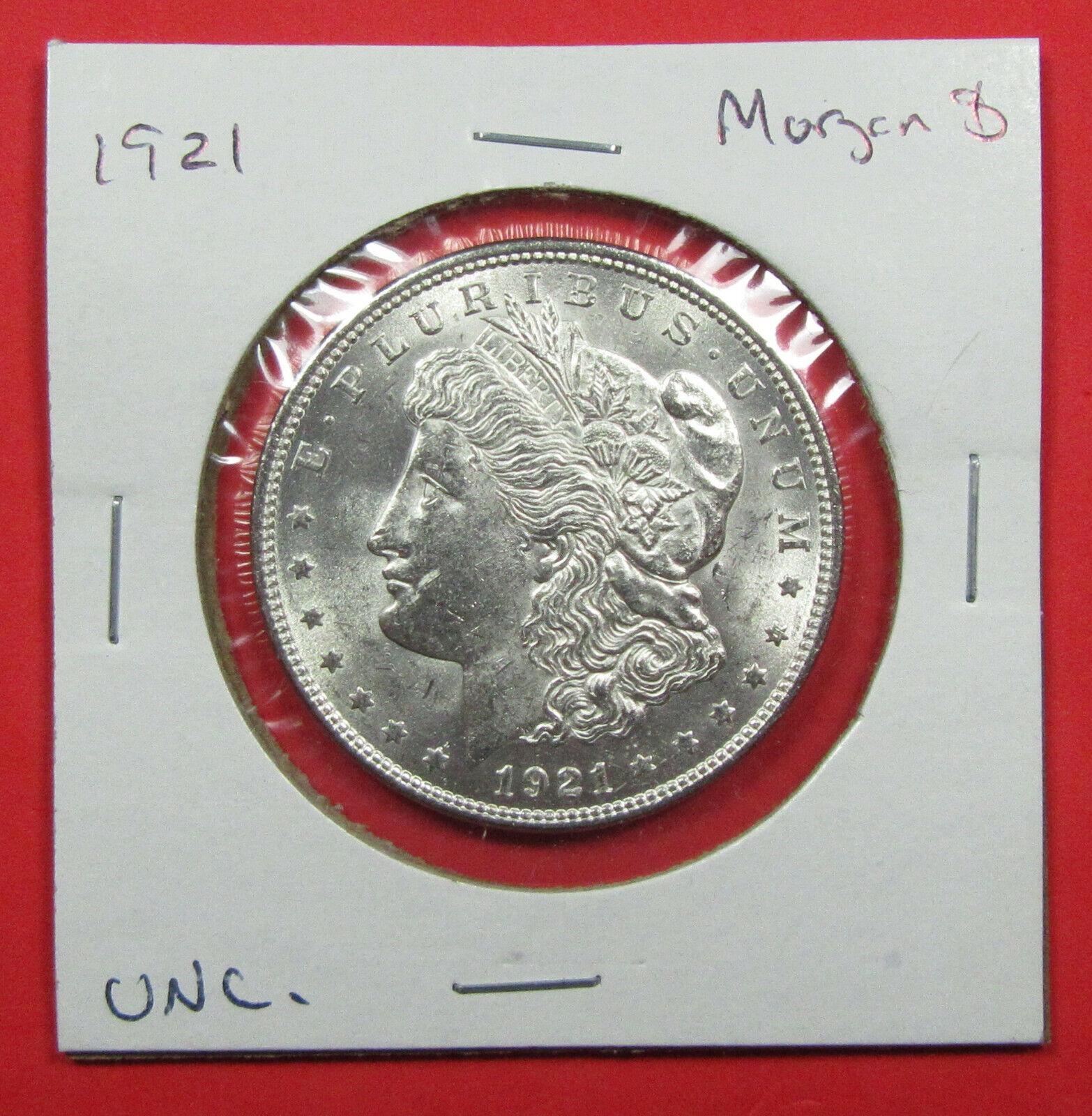 1921 1 Morgan Silver Dollar. Uncirculated. Pretty Final Year Of Issue 1120153  - $37.50