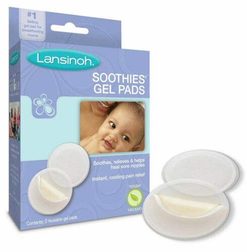 Lansinoh Instant Cooling Soothies Gel Pads Cracked Sore Nipples Breastfeed Moms