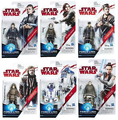 Set Of 6  Star Wars Last Jedi Orange 3 75  Figures Luke  R2 D2  Canto  Leia  Rey