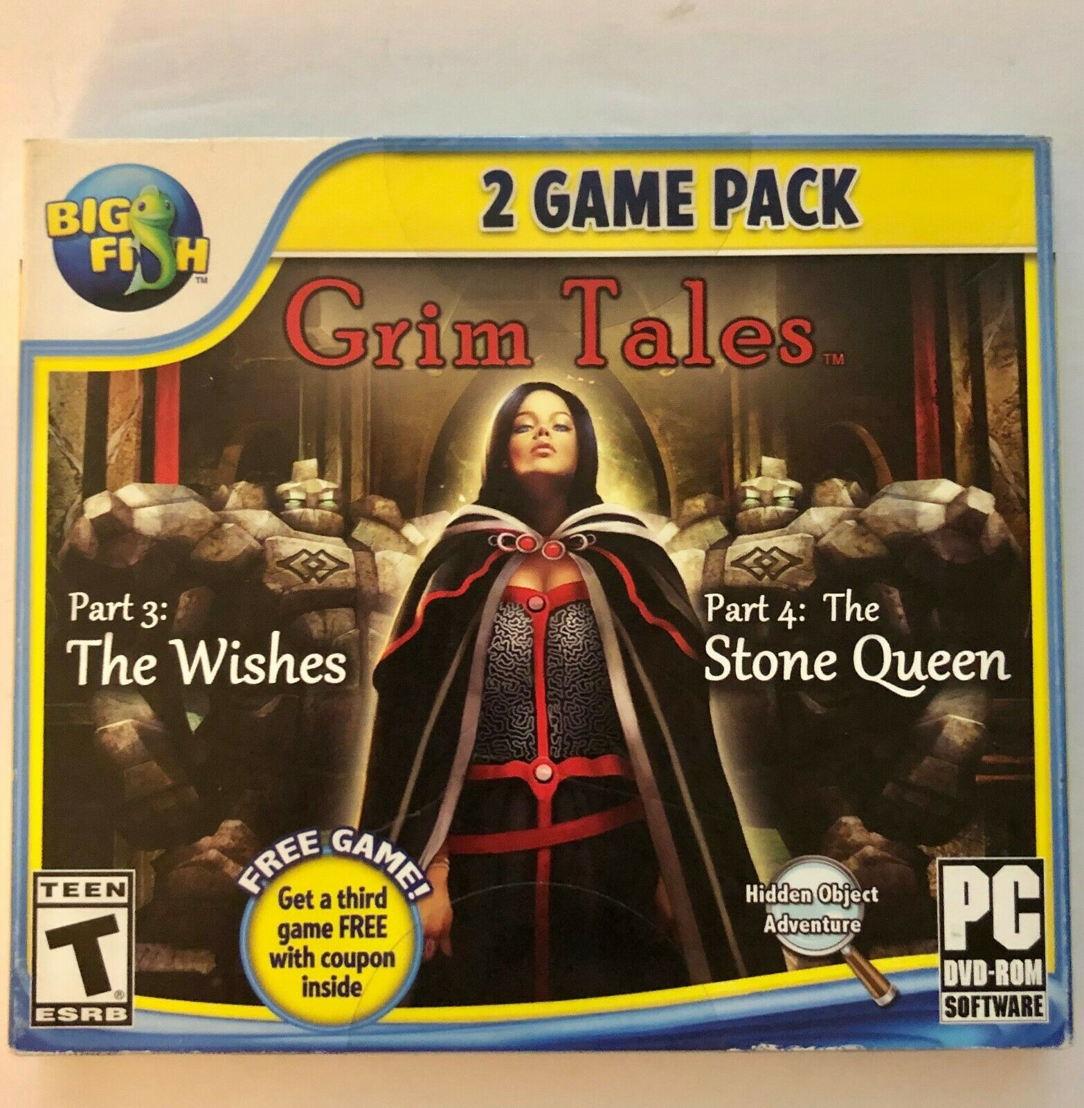 Grim Tales THE WISHES & THE STONE QUEEN & BONUS! Hidden Object PC Game DVD NEW