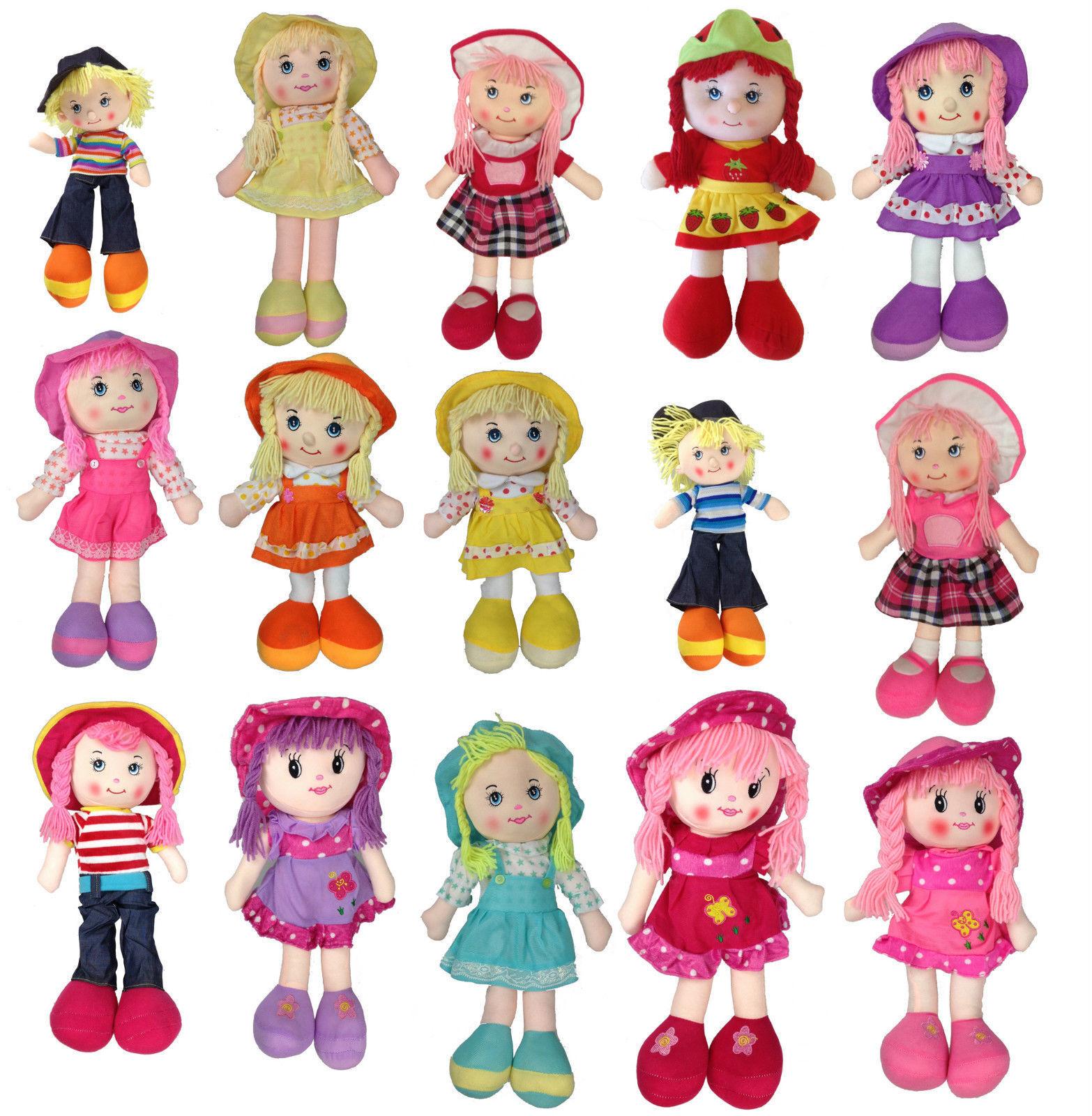 Puppe 40 cm Safinaz Weichpuppe Stoffpuppe Schlenkerpuppe 30 verschiedene Design