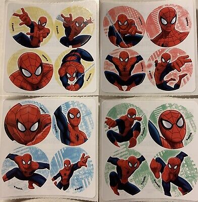 Spiderman Birthday Favors (100 Spiderman MiniBadges STICKERS Party Favors for Birthday Loot Bags)