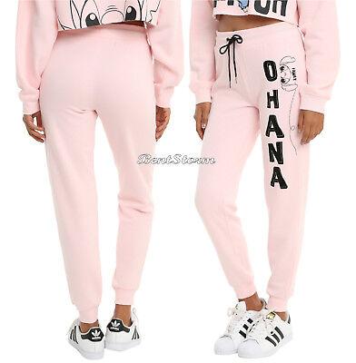 DISNEY Lilo & Stitch OHANA Family Pink Joggers Lounge Pants Pajamas JRS. S-L NWT - Family Pajama Pants