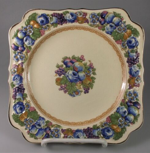 CROWN DUCAL FLORENTINE #1954 SQUARE SALAD PLATES 7 1/4 - SET OF 2 - VERY GOOD