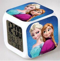Girl Kid Children Frozen Elsa Anna Digital Desk Alarm Clock Christmas Gift her