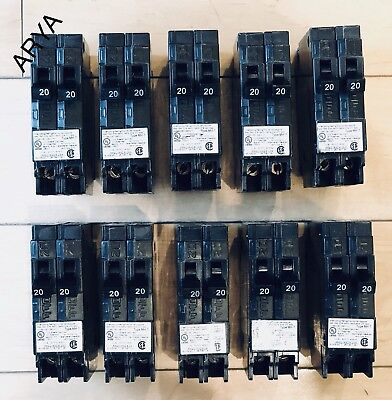 10 Pcs Murray Crouse-hinds Mp2020n Circuit Breaker 20a 2 1pole New