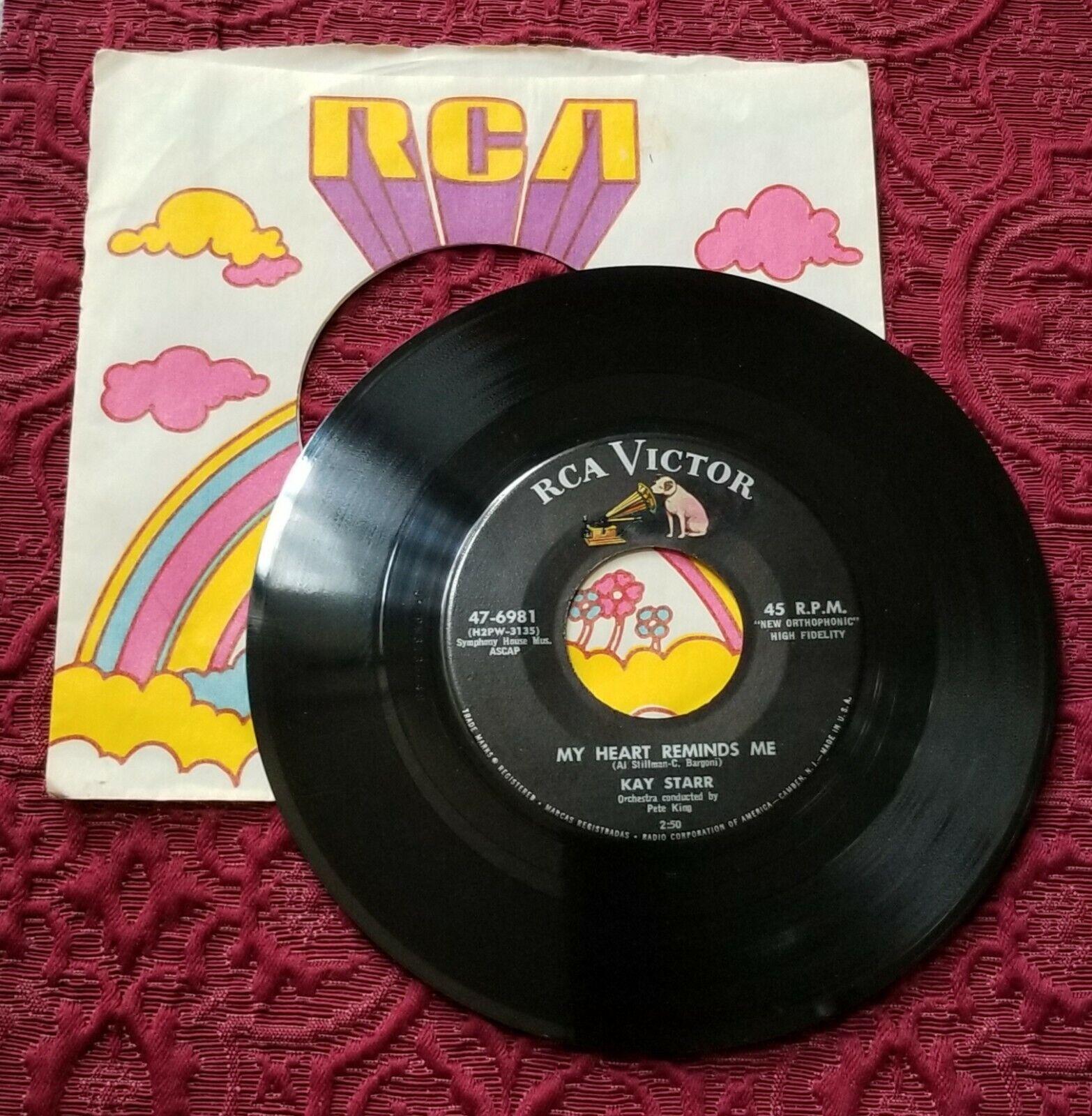 Kay Starr - My Heart Reminds Me / Flim Flam Floo - 45rpm Vinyl Record - $2.50