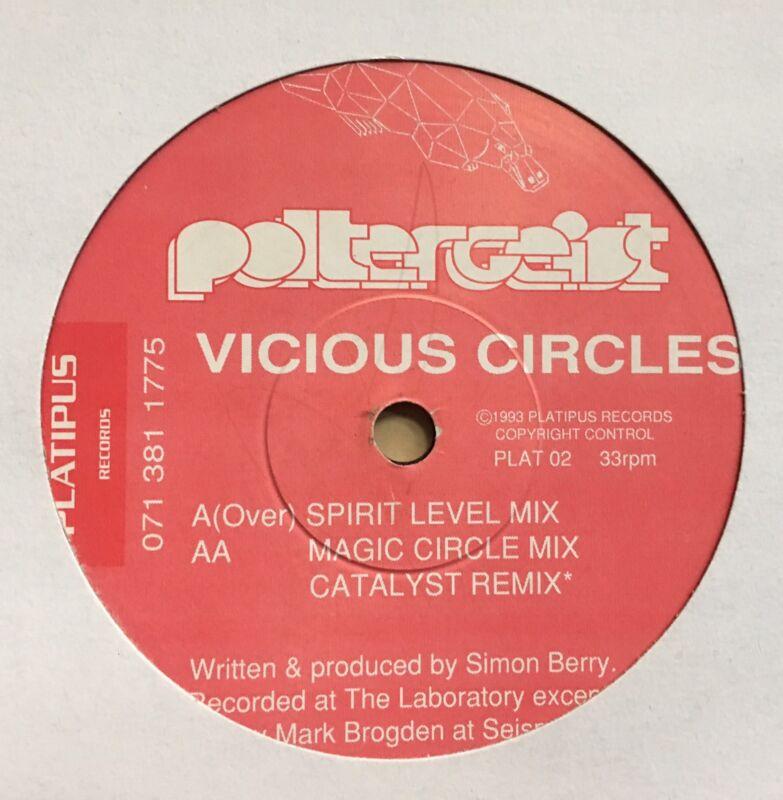 Poltergeist Vicious Circles Platipus Trance ANTHEM Vinyl Dance Record