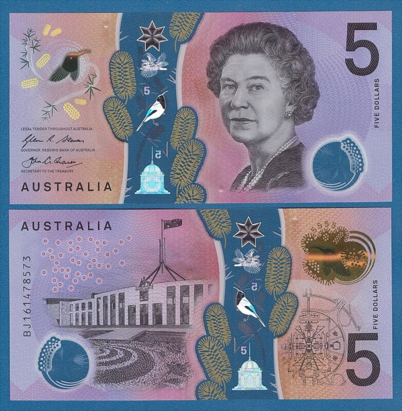 Australia 5 Dollars P 62 UNC 2016 Low Shipping! Combine FREE! Polymer