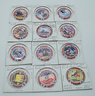 Set Of 12 Ramada Express  5 Casino Chips Laughlin Nevada  Back To The 1940S