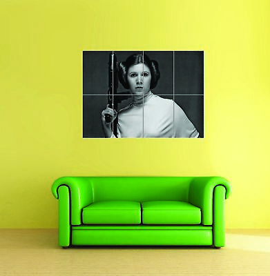 Princess Leia Star Wars Carrie Fisher Wall Art Print New Poster Giant Xl