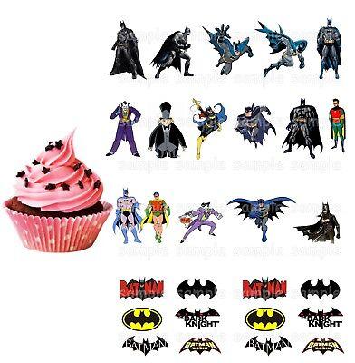 e Eßbar Tortenbild Party Deko Muffinaufleger Cupcake neu dvd (Justice League Kuchen)