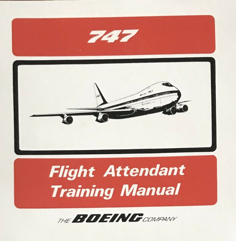 Boeing 747 Flight Attendant Training Manual For Braniff International
