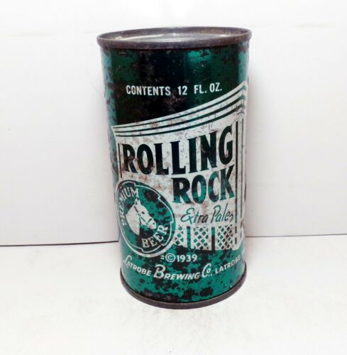 ROLLING ROCK Extra Pale Flat Top Beer Can Latrobe, PA